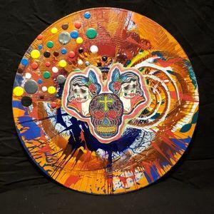 Mixed media art on LP's